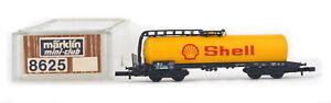 ONE MARKLIN Z Gauge 8625 German Federal Railroad DB Petroleum Oil Tank Car SHELL