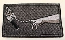 Motorcycle Patch, Motorbike, Motorcycle Jacket, Sew On Grey Patch, Funny Patch
