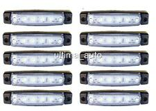 10 X SEGNALATORE LUCE INGOMBRO 6 LED LATERALE 24V 24VOLT BIANCO CAMION RIMORCHIO