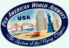 Pan American World Airways To United States Of America Gorgeous Luggage Label