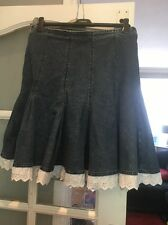 Ladies Per Una Denim Skirt Size 14r