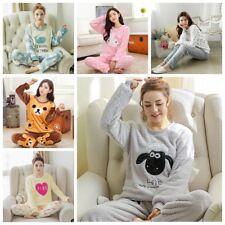 3a74b4e3df Women Warm Flannel Pajamas Set Cute Soft Autumn Winter Sleep Cloth Fall  Gift New