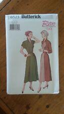 Butterick Retro 1950 Pattern #6523, Misses' Dress, Sz 12-14-16