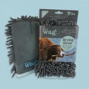 Henry Wag Microfibre Cleaning Glove, Drying Glove for Dogs, Dog Towel Glove/Mitt