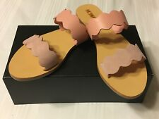 Leather & suede sandals 39 pink