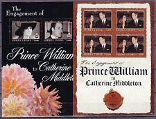 Sierra Leone 2011 Verlobung Engagement William & Kate Block + Kleinbogen **
