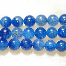 "6MM Blue Dragon Veins Agate Round Gemstone Loose Bead 15"""