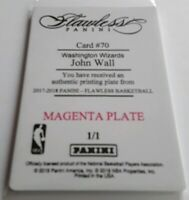 2017-18 Panini National Treasures John Wall Flawless Magenta Printing Plate 1/1