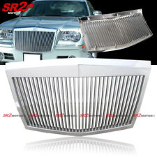 Chrome Vertical Bumper Hood Front Grill Grille Fits 2005-20010 Chrysler 300C