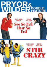 Pryor & Wilder Double Feature (See No Evil, Hear No Evil, Stir Crazy), New DVDs