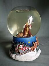 Partylite Santa Claus Snow Globe Music Box Tealight Wish You a Merry Christmas â—‡