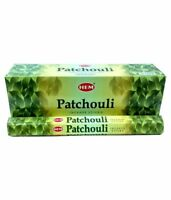 Original Hem PATCHOULI Räucherstäbchen Box Duft 6 Pack x 20 Stick =120 Sticks