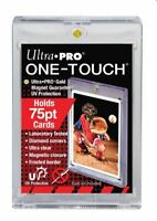 (5-Pack) Ultra Pro One Touch 75pt Thick Magnetic Trading Card Holders w/ UV
