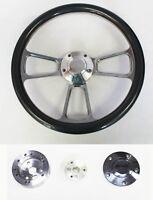 """Nova Chevelle Impala El Camino Steering Wheel Carbon Fiber and Billet 14"""" SS Cap"""
