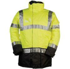 Sioen *siopor Regular Jacket Lightflash* Hi-ViZ, Yellow/Navy, Waterproof, Size M