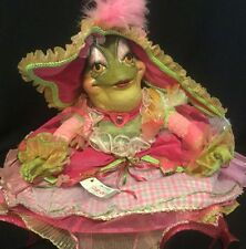 "Katherine's Collection Wayne Kleski Retired 23"" Lady Lila Lovely Heart Frog Toad"