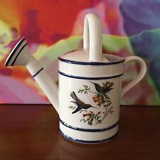 "Ceramic ""Watering Can"" // 9 1/2"" // Numbered ~ # 1441 // Made In Portugal"