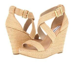 Womens Shoes Steve Madden HAYWIRE Espadrille Platform Wedge Sandals  US 10