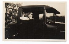 1928 Photo of young Girl in her Vintage Auto at Redwood City San Mateo Co CA