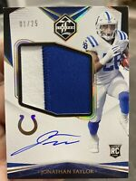 2020 LIMITED JONATHAN TAYLOR ROOKIE PATCH AUTO GOLD 1/25 RPA COLTS JUMBO JERSEY