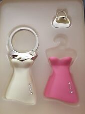 Fashion Beauty Series Dressing Key Holder Keychain with 2 outfits
