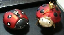 Designer 2 Christmas ornament,Lady Bug pattern, Xmas Insect Bugs