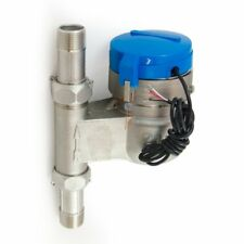 """3/4"""" Vertical Water Meter - Stainless Steel, High Definition Pulse Output"""