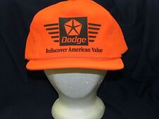 trucker hat baseball cap DODGE REDISCOVER AMERICAN VALUE bright cool style retro