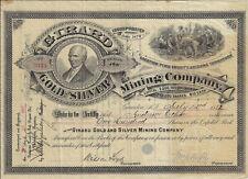 ARIZONA Territory 1882 Girard Gold & Silver Mining Co Stock Certificate Tombston