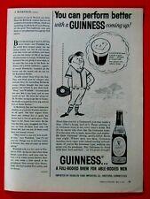 "1960 Guinness Baseball Player Original Print Ad 8.5 x 11"""