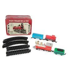 Miniature 16 Piece Toy Train In A Tin Mini Trainset Playset