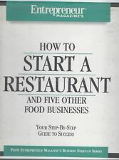 Entrepreneur Magazine HOW TO START A RESTAURANT & Five Other Food Businesses