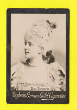 OGDENS GUINEA GOLD - SCARCE LARGE PHOTO CARD - ACTRESS - MISS  FORTESCUE  - 1900
