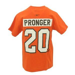 Philadelphia Flyers Youth Size Chris Pronger Reebok Official NHL T-shirt New