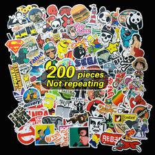 200 X Random Cool Vinyl Decal Graffiti Sticker Bomb Skate Laptop PVC Stickers UK
