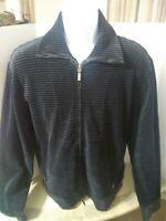 Armani Collezioni Mens Full Zip Velvet Track Jacket XL