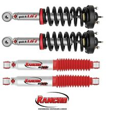 Rancho QuickLIFT Leveling Front Struts & Rear Shocks 2009-2013 Ford F150 4WD
