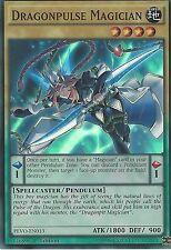3X YU-GI-OH CARD: DRAGONPULSE MAGICIAN - SUPER RARE - PEVO-EN013 - 1ST EDITION