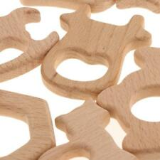 Lot 45 pcs naturel en bois aniaml forme bébé dentition dentition jouets
