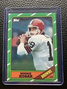 1986 topps bernie kosar rookie #187