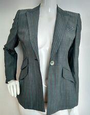 Designer KAREN MILLEN suit jacket blazer size 10 --USED ONCE-- virgin wool blend