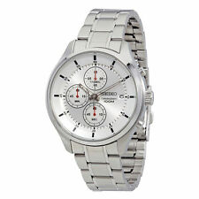 Seiko SKS535P1 Men's Silver Dial Steel Bracelet Chrono Date Watch