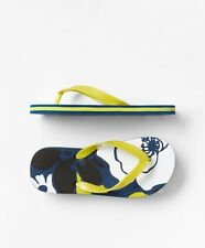 GAP Kids Boys NWT Size US 12 / 13 Blue / Yellow Floral Flip Flops Beach Sandals