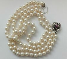 Antique Ruby 14ct Gold Pearl Necklace 1930s