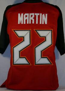Doug Martin Unsigned Custom Sewn Red Football Jersey Size - L, XL, 2XL