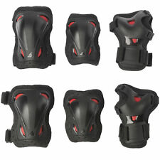 Rollerblade Skate Gear Junior 3 Pack Black Red Protector Set Children Protectors