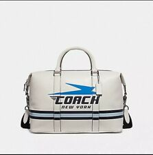 Coach Voyager Chalk Overnight Duffle Bag with Vintage Coach Logo -  NWT F72950