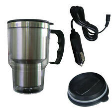 Stainless Steel 12V Car Cup Heater Tea Coffee Water Auto Electric Heater Mug 1PC