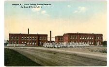 Newport Ri - Naval Training Station Barracks - Postcard Military/Navy