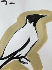 JOSE TRUJILLO ORIGINAL Art Deco SIGNED ACRYLIC on Paper PAINTING Minimal 7x10